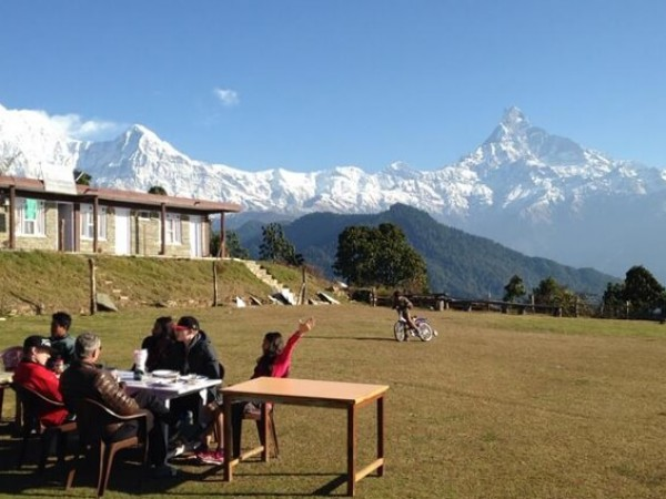 Annapurna and Fishtail view from Dhampus Village